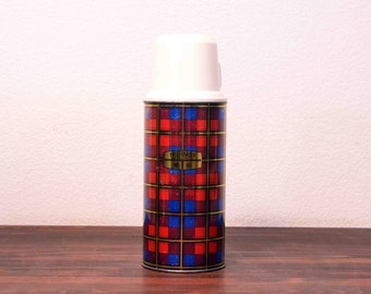 Vintage Red Plaid Thermos Made in England