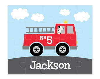 Firetruck Personalized Puzzle