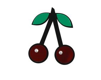 Red Acrylic Cherry Crush Brooch