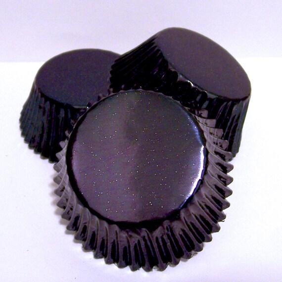 50 Black Foil Cupcake Liners