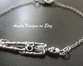 Antique Silver Skeleton Bracelet