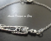 Antique Silver Skeleton Bracelet
