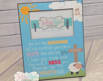 You Are My Sunshine Memorial Picture Frame Custom Personalized