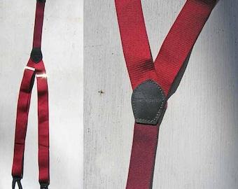 Pierre Cardin Red Suspenders Braces