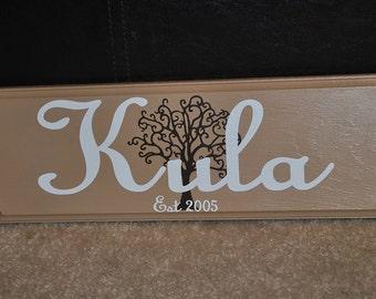 Custom Family Name Plaque