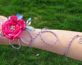 Custom Corsage and Bout Set - Fabric and Wire for Dianna