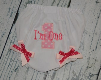 Personalized Birthday Bloomers Monogram Diaper Cover  - Custom Colors