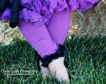 Purple and Black Baby Leg Warmers