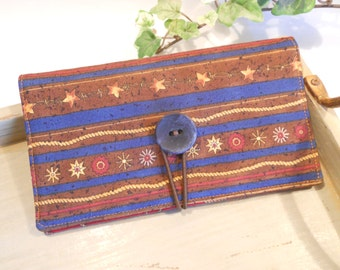 CHECKBOOK Cover with Button and Elastic Closure