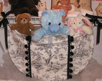 ABC Central Park Toile Baby Nursery Toy Bag