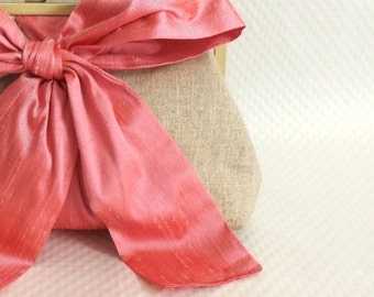 Pink Bridal Clutch - Pink Wedding Clutch - Bridesmaids Clutch - Bridal Gifts - Bridal Clutch - Mari