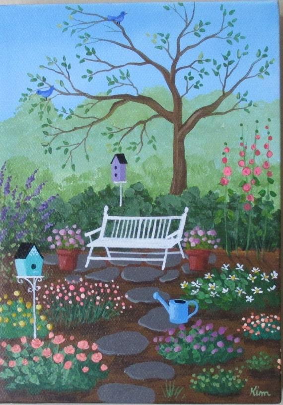 Jardin Folk Art Print maman
