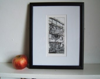 Housing I (Original Collagraph Hand Pulled Artist Print)