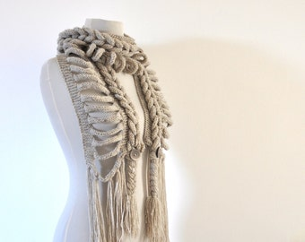Oatmeal Scarf Womens Accessories Sand Beige Neutral Gift under 75