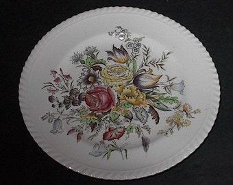 Flower Garden Plate Windsor Ware  Johnson Bros.