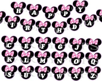 Minnie Mouse Banner,  Minnie Mouse Bow-tique,  Minnie Mouse Bow-tique Party, Minnie Mouse Party, Decoration,   INSTANT DOWNLOAD
