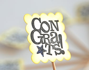 Congrats! - Cupcake Toppers