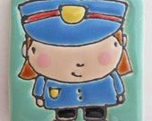 2.5 Square Police Woman