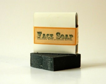 Face Soap Bar / Activated Charcoal Soap / Black Soap / All Natural Soap