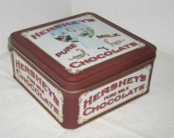 Hershey's Pure Milk Chocolate Collector's Tin, Vintage Edition #2, 1992, Mint Condition