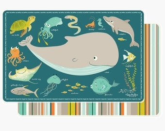 PLACEMAT for kids - ocean sea placemat