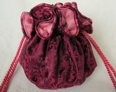 Brocade Jewelry Tote - Luxury Size - Drawstring Pouch - BUBBLE GUM WRAPPER