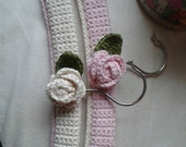 Set of two shabby chique crochet baby hangers from Organic cotton