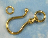 SALE 5 XL Gold Fish Hook & Ring Clasps 38mm (P1565)
