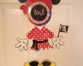 Minnie Mouse Pirate Body Part Stateroom Door Magnets for Disney Cruise