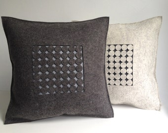 Felt Pillow in Heathered Gray Felt