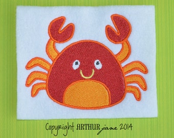 Crab Embroidery Design, INSTANT DOWNLOAD, Sea Creatures for Machine Embroidery 4x4