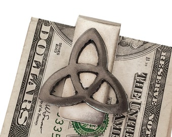 Celtic Trinity Money Clip / Triquetra Moneyclip / Perfect for Best Man, Groomsmen Gift, Wedding