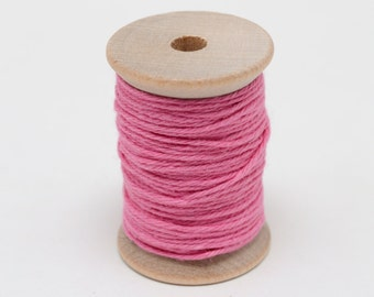 Baker's Twine - 20 Yards - Hot Pink - 4 Ply Twine on Wooden Spool
