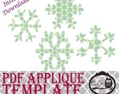 Applique Template - Snowflakes - 4 different designs