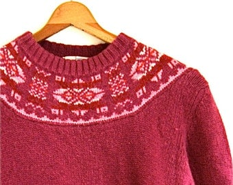 SALE / Patterned Knit Sweater // Vintage Northern Isles