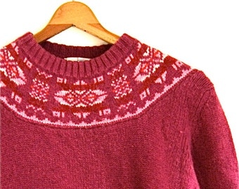 Patterned Knit Sweater // Vintage Northern Isles