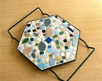 Mosaic Trivet // Mid-Century Vintage