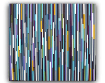 Abstract Painting on Wood - Wall Art - Wood Art - Modern Wall Art