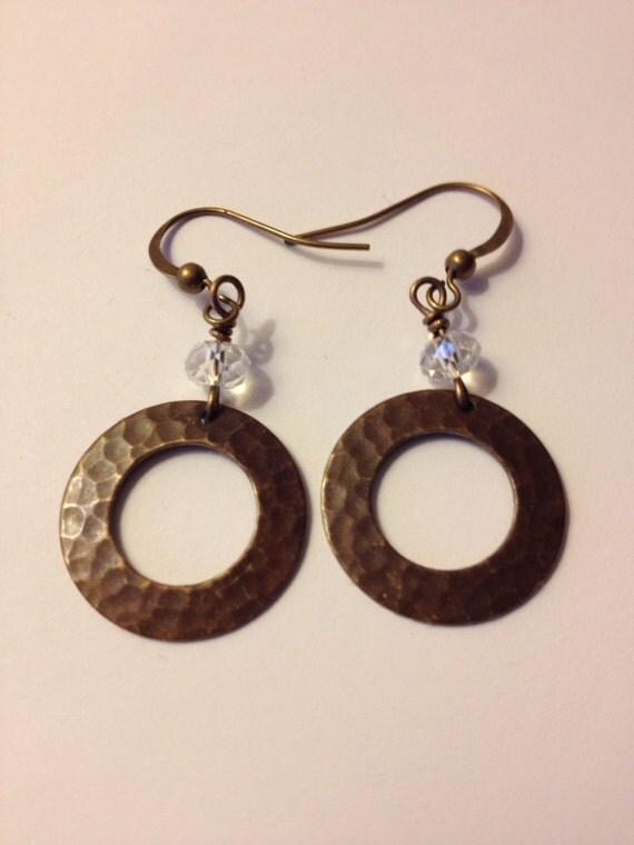 Pretty Rustic Swarovski Earrings