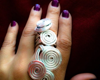 COILED AGAIN:  Bangin Beauties hammered aluminum statement ring