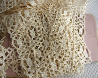 Vintage Lace Cream Trim Yardage Antique White