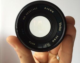 Vintage Vivitar 50mm Camera Lens Vintage Photography Collectibles