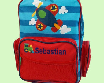 Personalized Stephen Joseph Rolling Luggage AIRPLANE Themed for Children-Full Monogramming Instructions Are Required