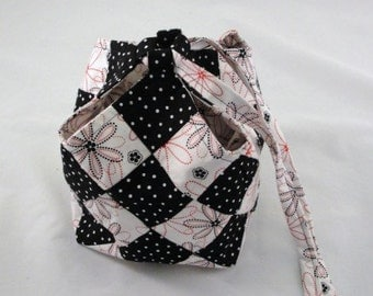 Small tote patchwork Bitty Bag Quiltsmart