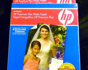 HP Premium Plus High Gloss 4 x6 Photo Paper - Lot of 4 packages - 79 Sheets - FREE US Shipping