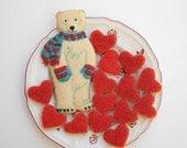Valentinstag-Geschenk, Valentinstag Cookie, Eisbär Valentinstag, Geschenk unter 35, Tier Valentine, Haustier Valentine, Backwaren