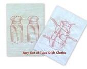 Any set of 2 flour sack dish cloths