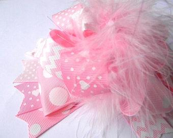 Pink Over the Top Princess Hair bows