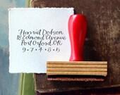 Calligraphy Return Address Stamp // Custom // BRIGHT