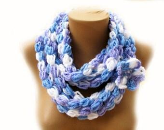 PDF Tutorial  Pattern... Crochet Scarf, Puff Stitch infinity/ Loop Scarf